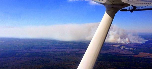 Fire near Lake Disston FL