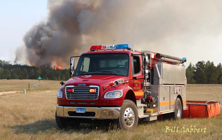 custer engine highland fire