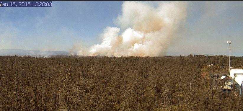 Hawaii volcano brush fire
