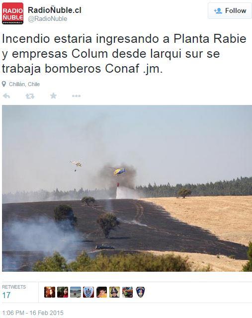 Chile wildfire