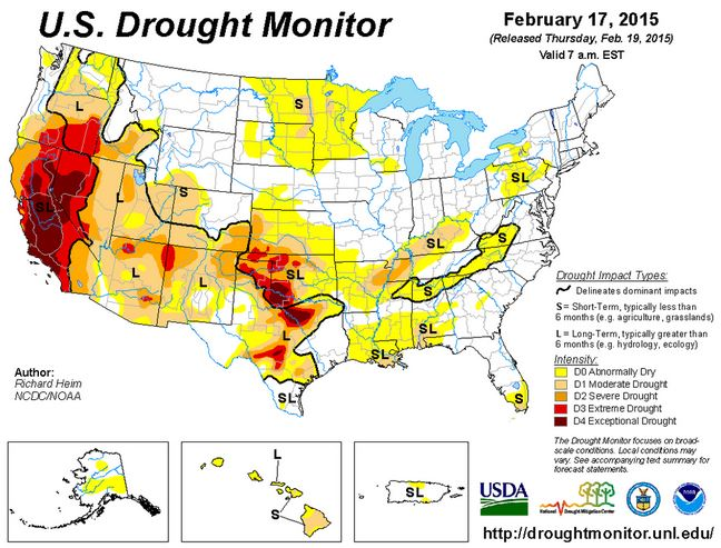 Drought monitor, February 17