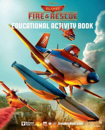 Planes fire rescue activity book