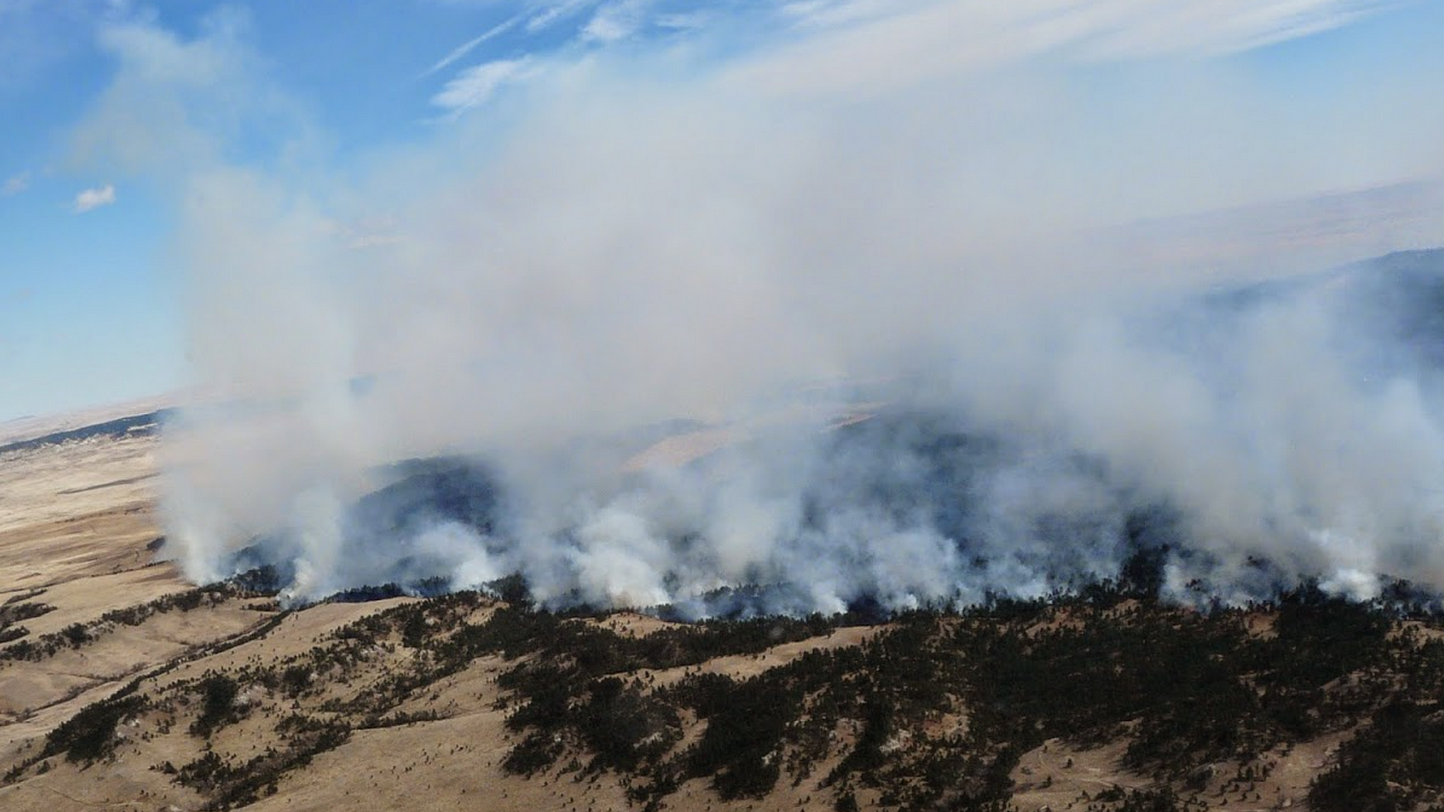 Sheep Draw Fire in northwest South Dakota.
