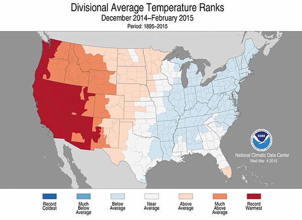 Winter 2014-2015 average temp