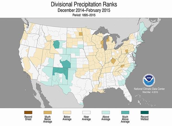 Winter 2014-2015 precipitation