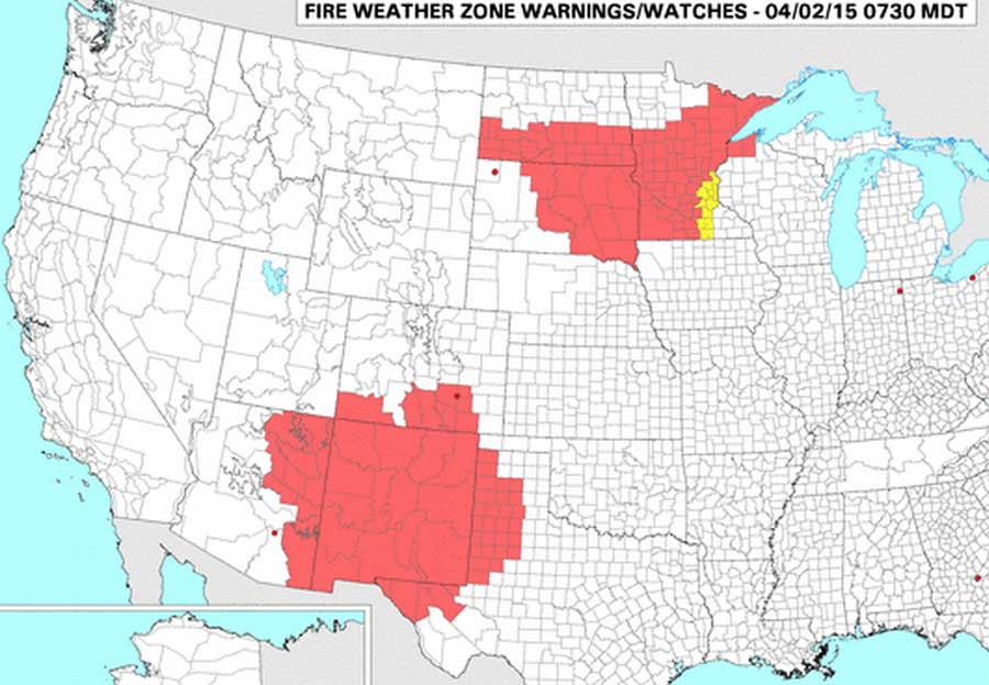 wildfire red flag warning