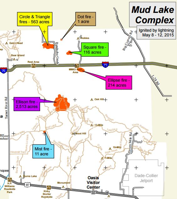Map of Mud Lake Complex May 13, 2015