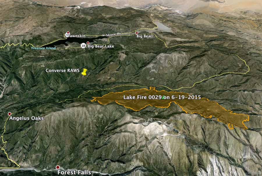 3-D map of Lake Fire