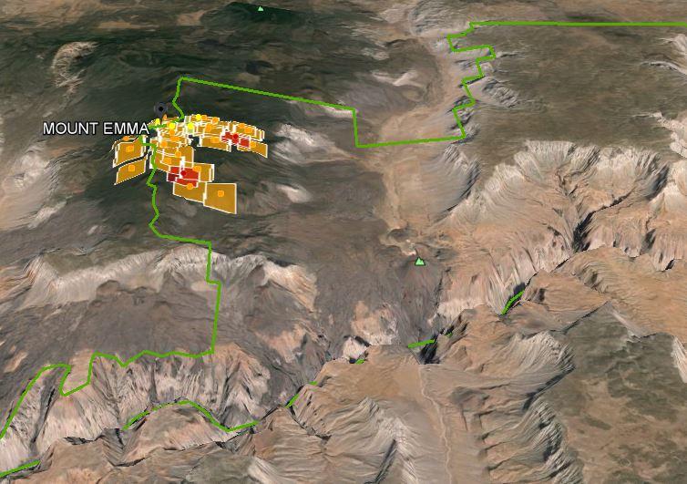 3D view Mount Emma Fire