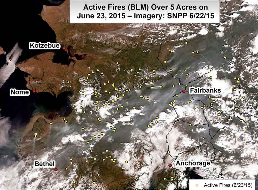 Alaska Fires, June 23, 2015