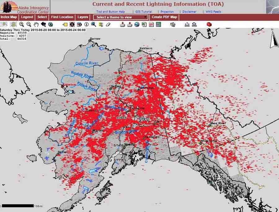 Alaska 46000 lightning strikes and many fires Wildfire Today