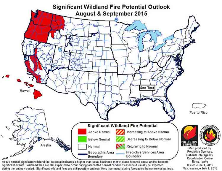 wildfire August September outlook