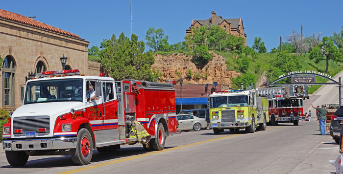 Hot Springs Fire Department engines