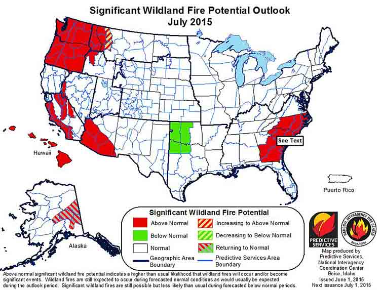 wildfire July outlook