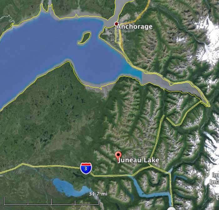 Juneau Lake map