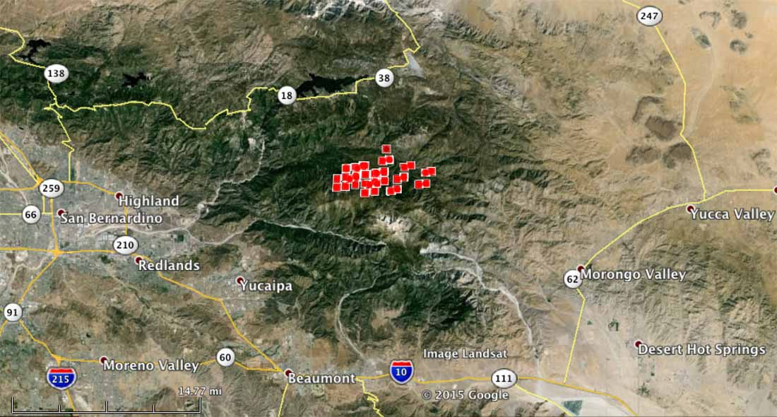 Lake fire map san bernardino california