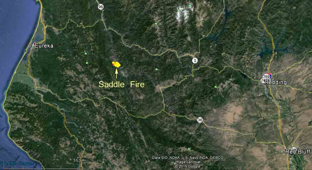 Northern California: Saddle Fire – Wildfire Today