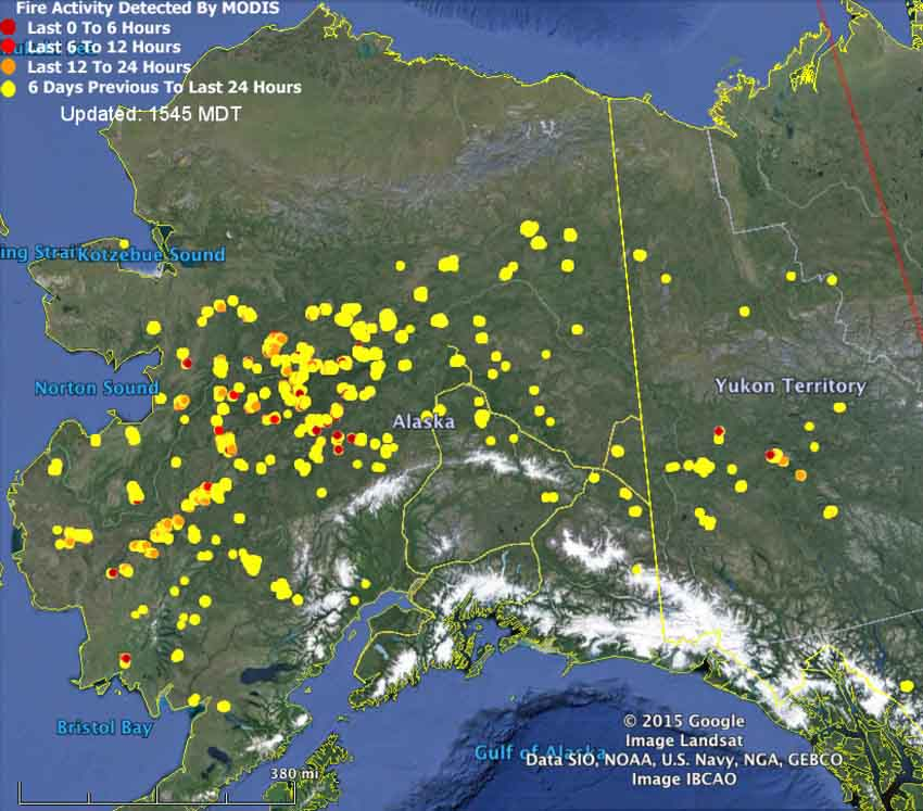 Map of Alaska Fires 356 pm MT June 29, 2015   Wildfire Today