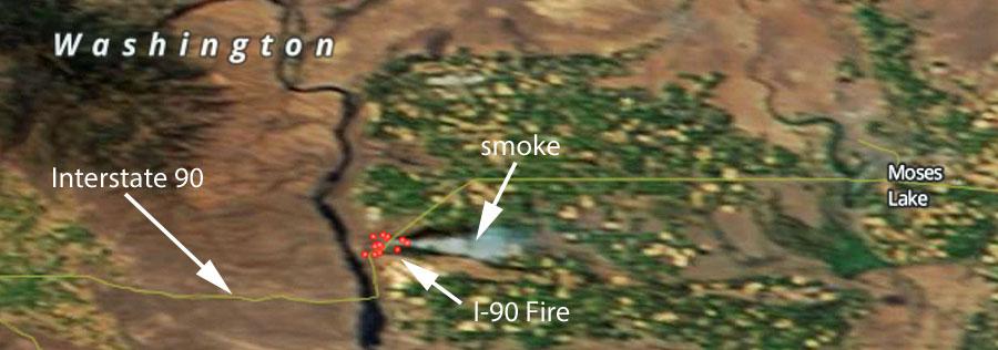 I-90 Fire July 20, 2015