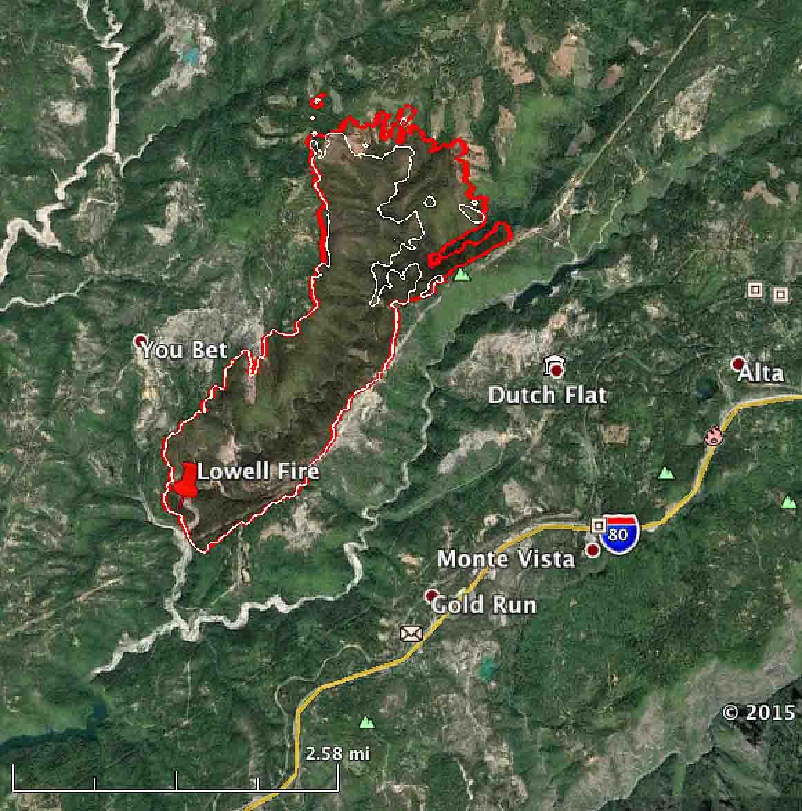map lowell fire
