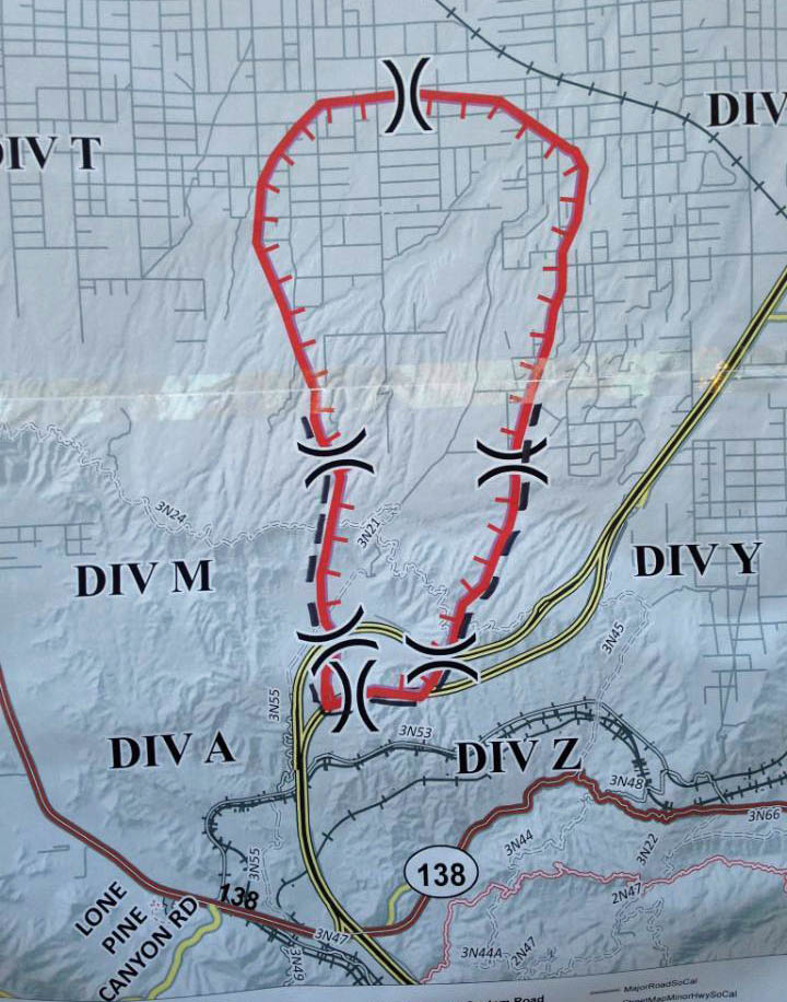 Cajon Pass Fire Map.Wildfire Today Page 357 Of 1340 News And Opinion About Wildland Fire