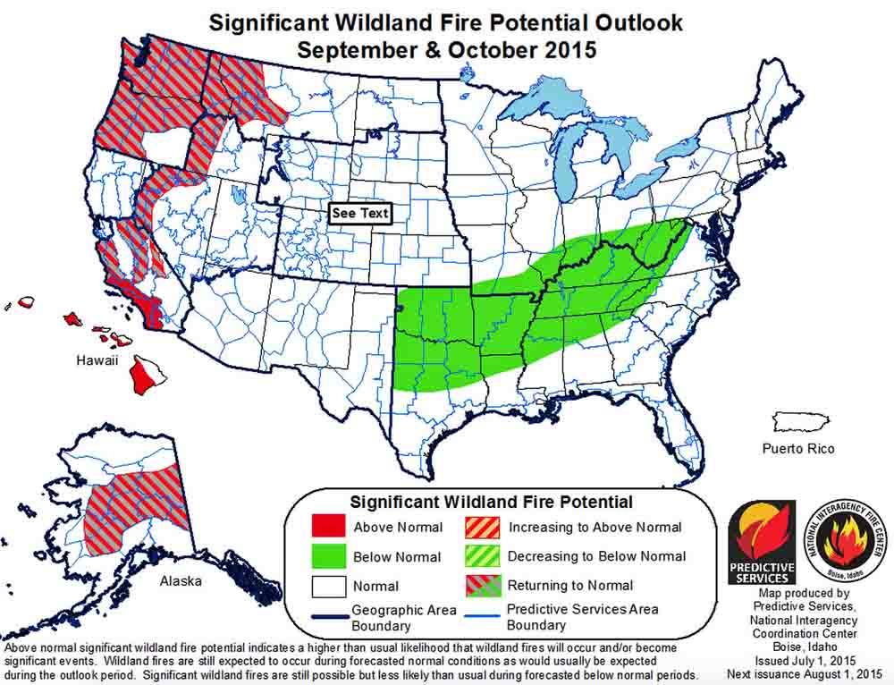 Wildfire Outlook, September October, 2015