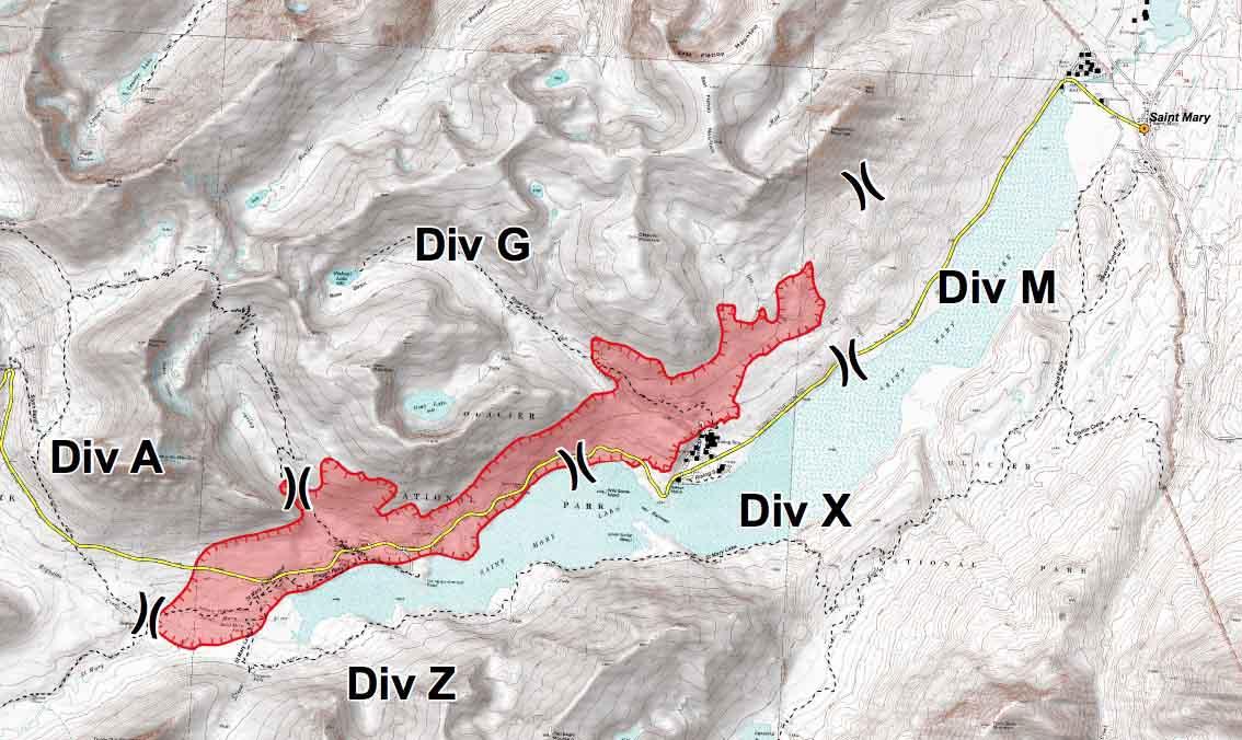 Reynolds Creek Fire map