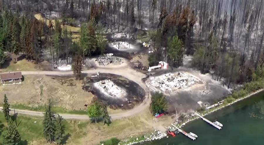 Puntzi Lake Wildfire structures destroyed