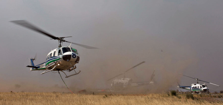 Washington UH-1 Huey Okanogan Complex of fires