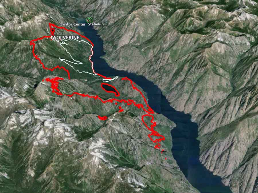 3 D map of Wolverine Fire 8 pm PT 8 1 2015   Wildfire Today
