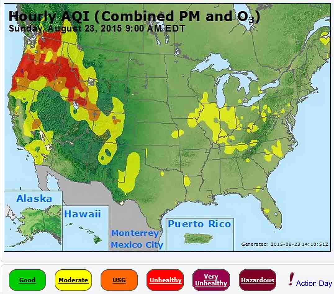 Wildfire smoke air quality