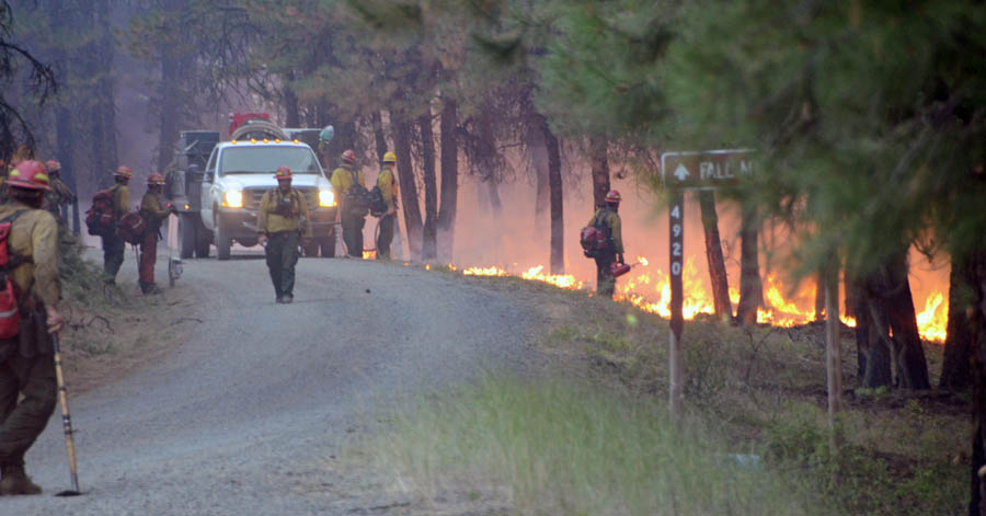 Canyon Creek Complex of fires.
