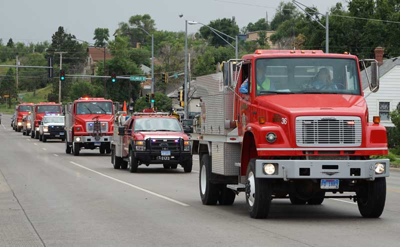 fire engines dave ruhl procession
