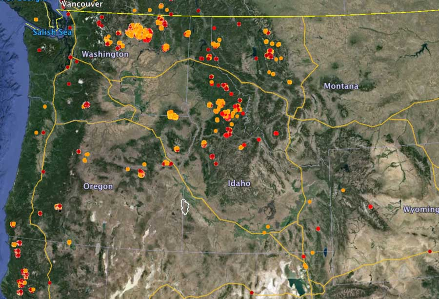 250 Active Wildfires In The United States Wildfire Today