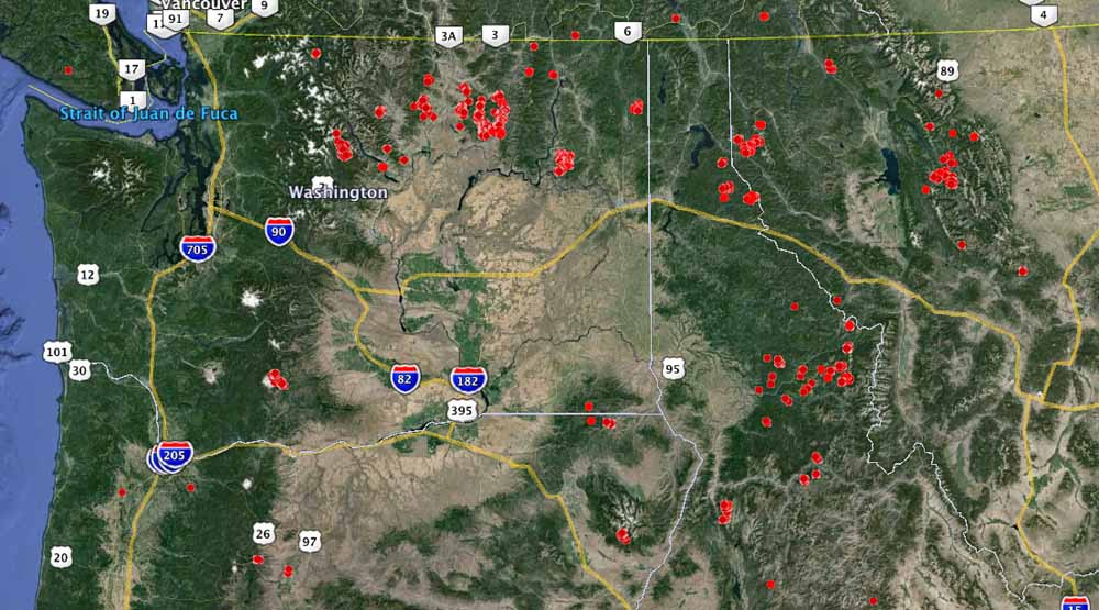 Fires Washington Northern Oregon Northern Idaho