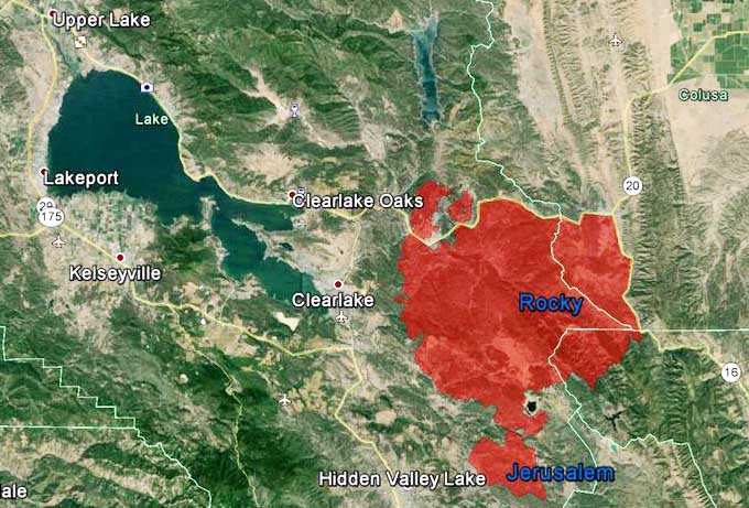 Cal Fire Map Today.Jerusalem Fire Map 8 9 2015 Wildfire Today