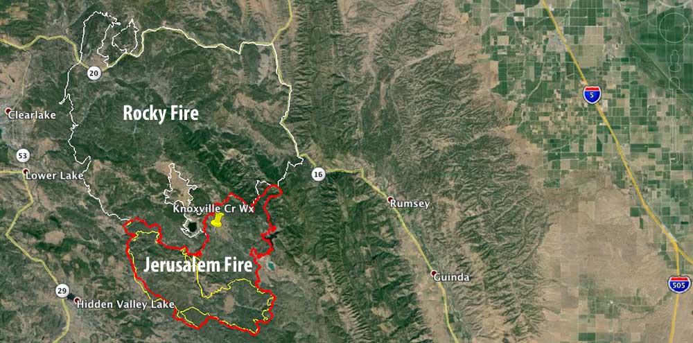 Map Jerusalem Fire