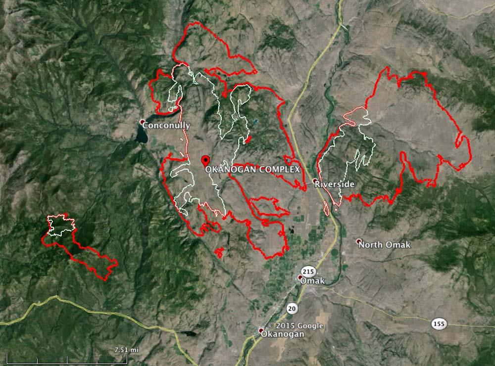 map Okanogan Complex