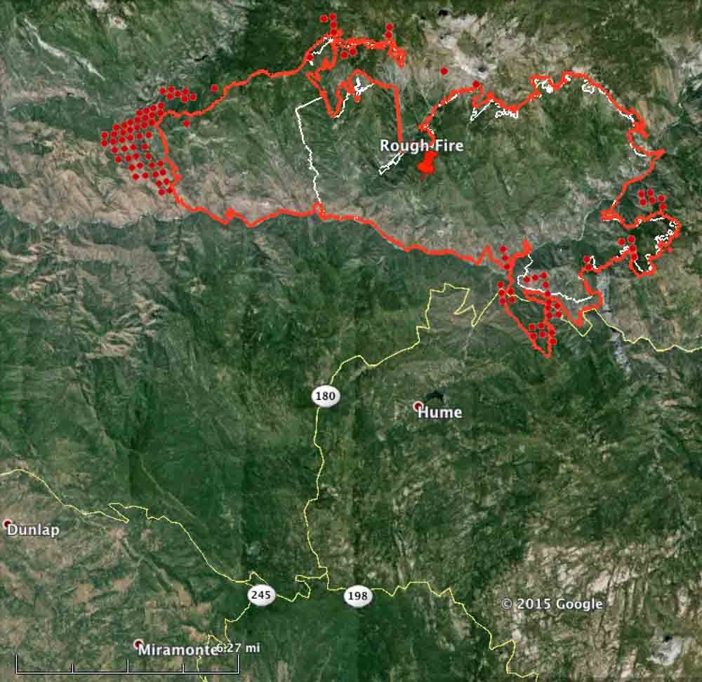 perimeter of the Rough Fire