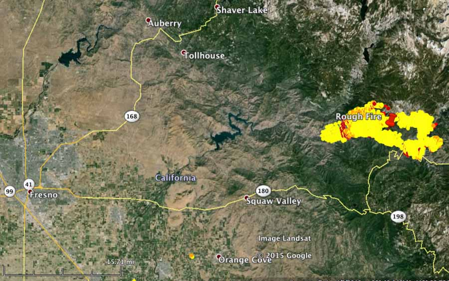 Rough Fire vicinity map   Wildfire Today