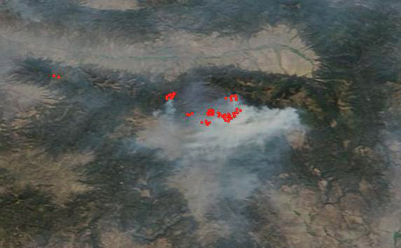 Sat Map Canyon Cr Cmplx 143 Pm Pt Aug 18 2015 Wildfire Today