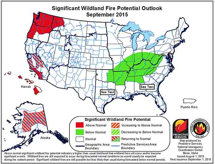 wildfire potential September