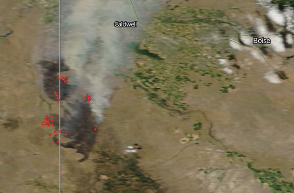 soda fire map idaho Soda Fire In Idaho Nears Containment Wildfire Today