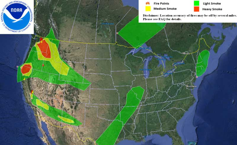 Wildfire smoke maps, August 18, 2015   Wildfire Today