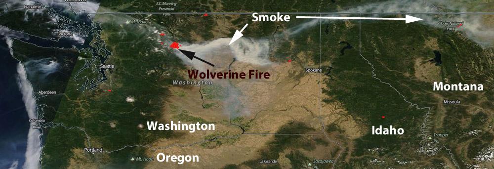 smoke Wolverine Fire Montana