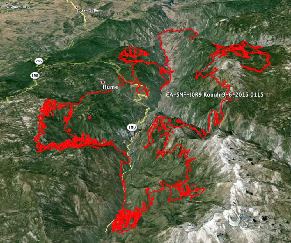 3 D map of Rough Fire 9 6 2015   Wildfire Today
