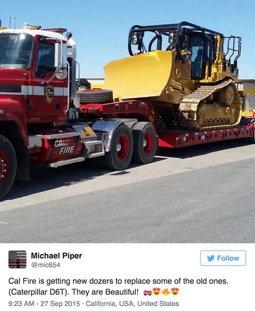 CAL FIRE new dozers
