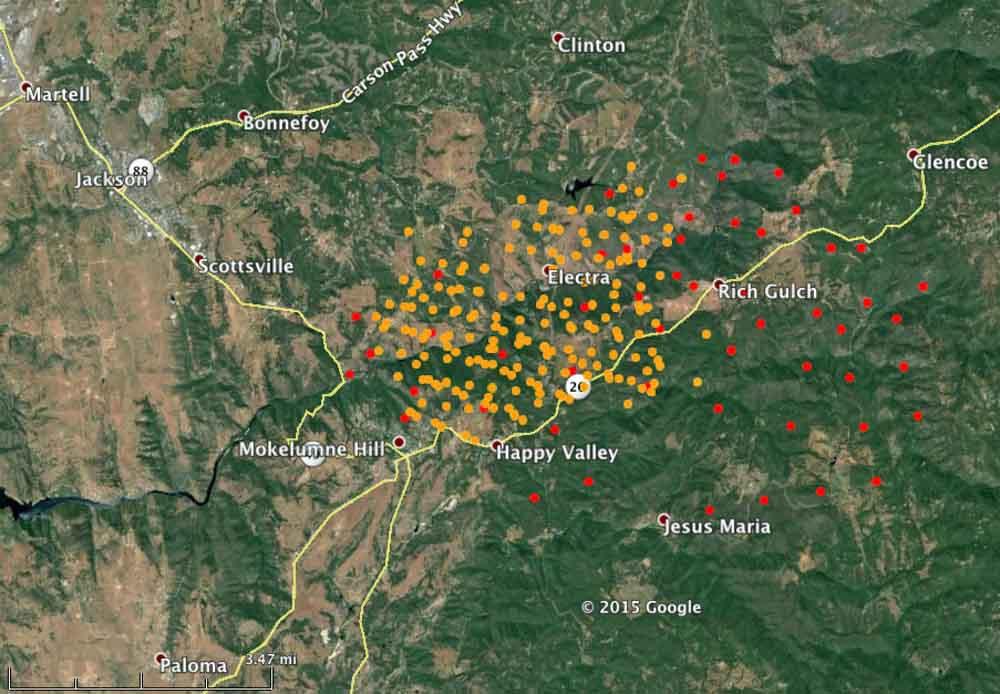 Map Butte Fire 1255 pm