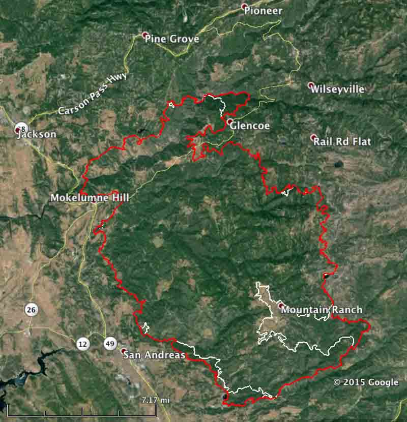 Map Butte Fire 9 15 2015   Wildfire Today