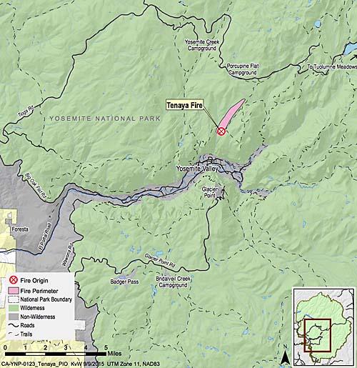 Map Tenaya Fire 9-9-15